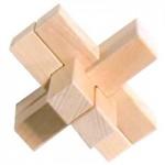 木製立体パズル 十字