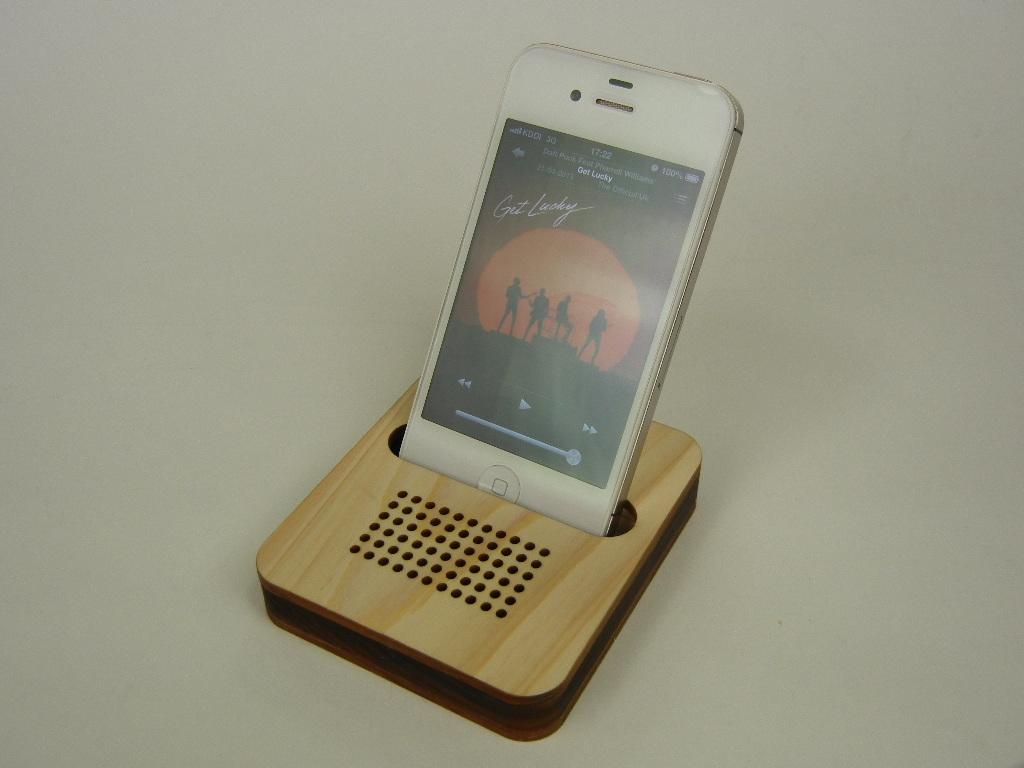 木製iPhone スタンド パルス