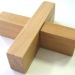 木製頭脳パズル エックス